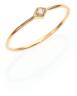 Diamond & 14k Yellow Gold Midi Ring