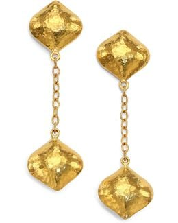 Clove 24k Yellow Gold Cielo Long Chain Drop Earrings