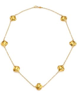 Clove 24k Yellow Gold Cielo Station Necklace