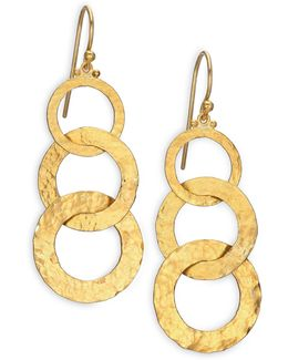 Hoopla 24k Yellow Gold Infinity Triple-drop Earrings