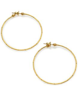 Rain 24k Yellow Gold Hoop Earrings/2