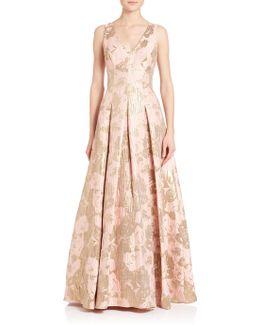 Metallic Jacquard Ball Gown