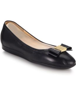 Tali Bow Leather Flats