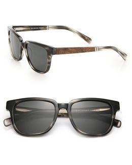 Prescott 52mm Rectangular Sunglasses