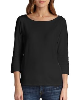 Organic Cotton Ballet Neck Top