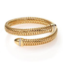 Primavera Diamond & 18k Yellow Gold Wrap Bracelet