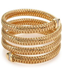Primavera Diamond & 18k Yellow Gold Four-row Wrap Bracelet