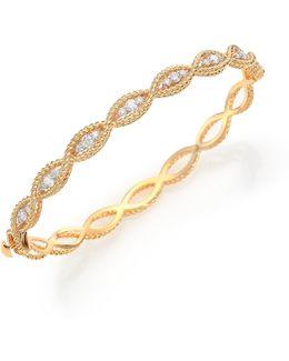 Barocco Diamond & 18k Yellow Gold Braided Bangle Bracelet