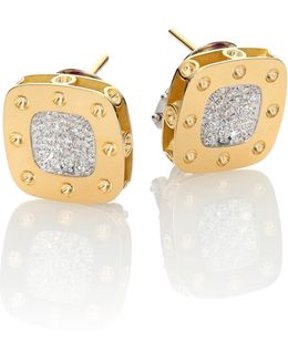 Pois Moi Diamond & 18k Yellow Gold Stud Earrings