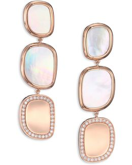 Mother-of-pearl, Diamond & 18k Rose Gold Drop Earrings