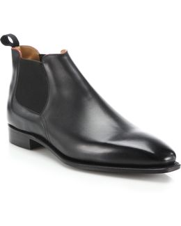 Bella Low-rise Leather Chelsea Boots