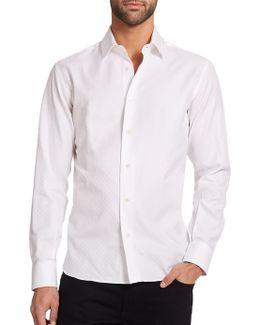 Tonal Gancini Button-down Shirt