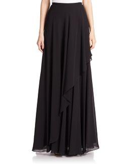 Chiffon Asymmetrical Maxi Skirt