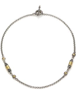 Aspasia 18k Yellow Gold & Sterling Silver Station Necklace
