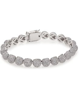 Pave Crystal Medium Dome Bracelet