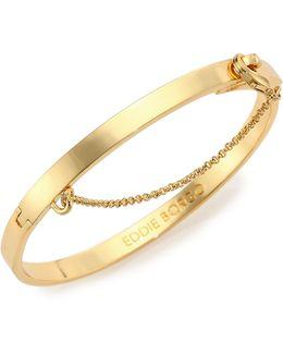 Thin Safety Chain Bracelet/goldtone