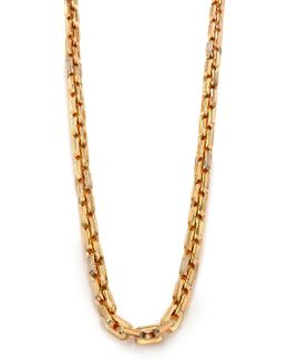 Pave Crystal Small Supra Link Necklace