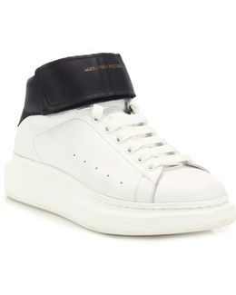 Ankle-Strap High-Top Sneakers
