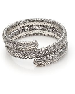 Classic Chain Sterling Silver Double Coil Bracelet