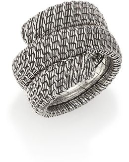 Classic Chain Sterling Silver Double Coil Ring