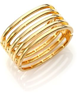 Caged Five-row Cuff Bracelet