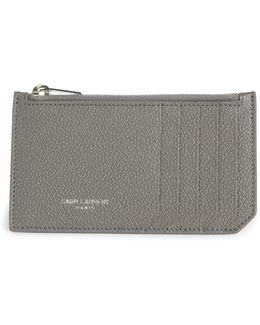 Fragments Leather Zip Card Case