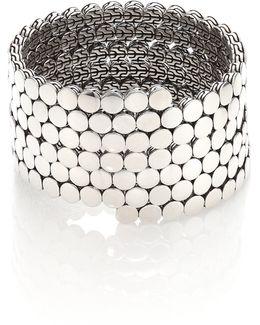 Dot Sterling Silver Multiple Coil Bracelet
