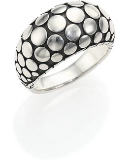 Dot Sterling Silver Dome Ring
