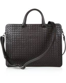 Woven Leather Briefcase