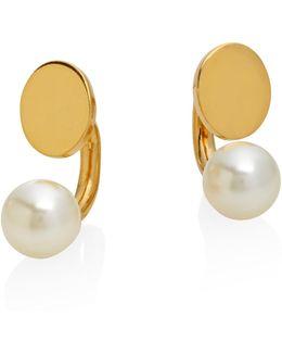 Darcey Faux Pearl Arc Earrings