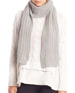 Virgin Wool Knit Scarf