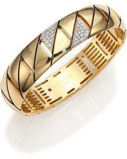 Appassionata Diamond & 18k Yellow Gold Bangle Bracelet