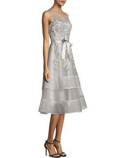 Lace Illusion Sleeveless Dress