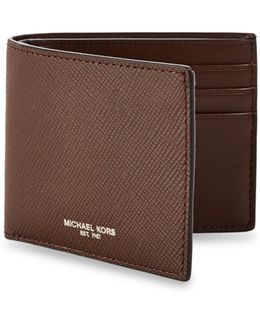 Embossed Leather Slim Billfold Wallet