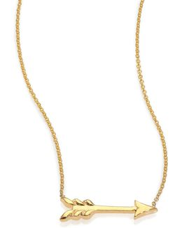 Tiny Treasures 18k Yellow Gold Arrow Necklace