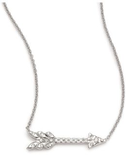 Tiny Treasures Diamond & 18k White Gold Arrow Necklace
