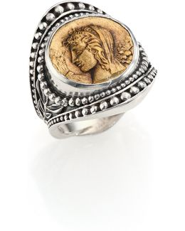 Kerma Bronze & Sterling Silver Coin Ring