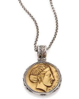 Kerma Olympia Bronze & Sterling Silver Coin Pendant