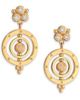 Celestial Diamond & 18k Yellow Gold Piccolo Tolomeo Drop Earrings