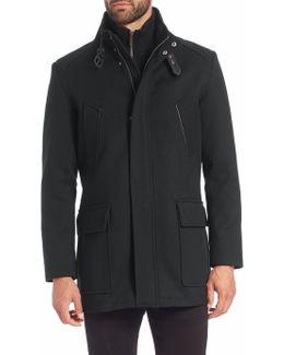 Wool Knit-bib Carcoat