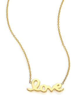 Tiny Treasures 18k Yellow Gold Love Letter Necklace
