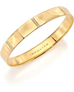 Glamazon Stardust Diamond & 18k Yellow Gold Five-section Wide Bangle Bracelet