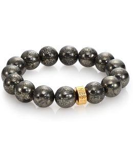 Pyrite Beaded Stretch Bracelet