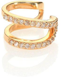 Lilly Diamond & 14k Yellow Gold Single Ear Cuff