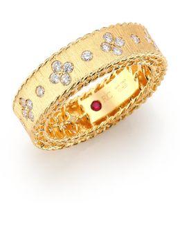 Princess Diamond & 18k Yellow Gold Band Ring