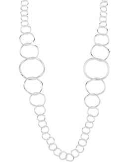 Glamazon Sterling Silver Extra Long Link Necklace