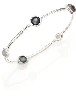 Rock Candy Sterling-Silver Bangle