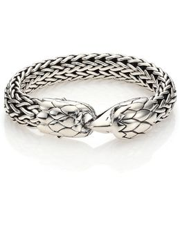 Legends Black Chalcedony & Sterling Silver Eagle Bracelet