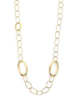 Glamazon 18k Yellow Gold Mixed Oval Link Necklace