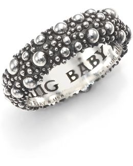 Textured Sterling Silver Band Ring